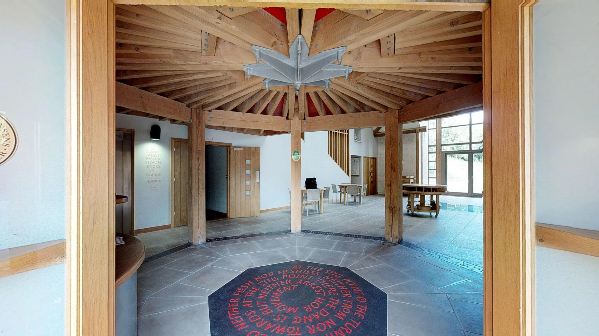 Sheepdrove Organic Farm Foyer