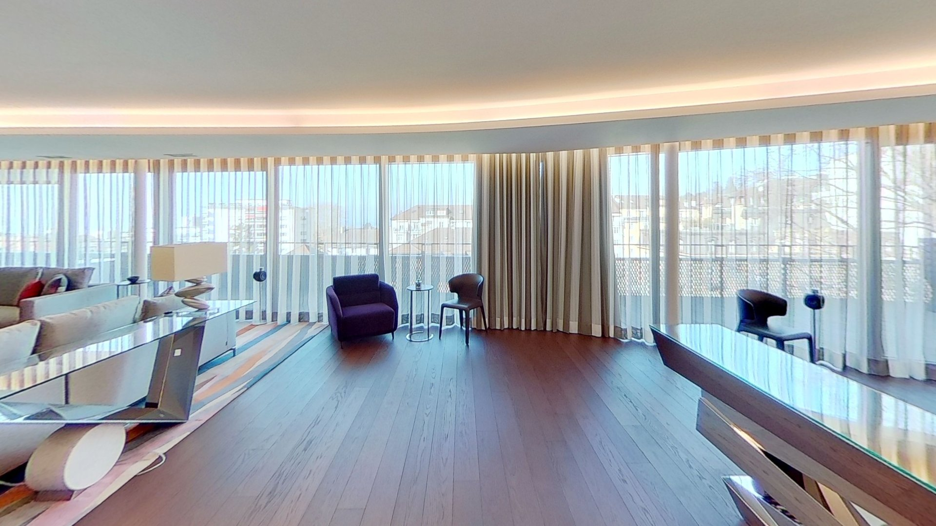 Penthouse at The Royal Savoy Hotel: Lausanne, Switzerland