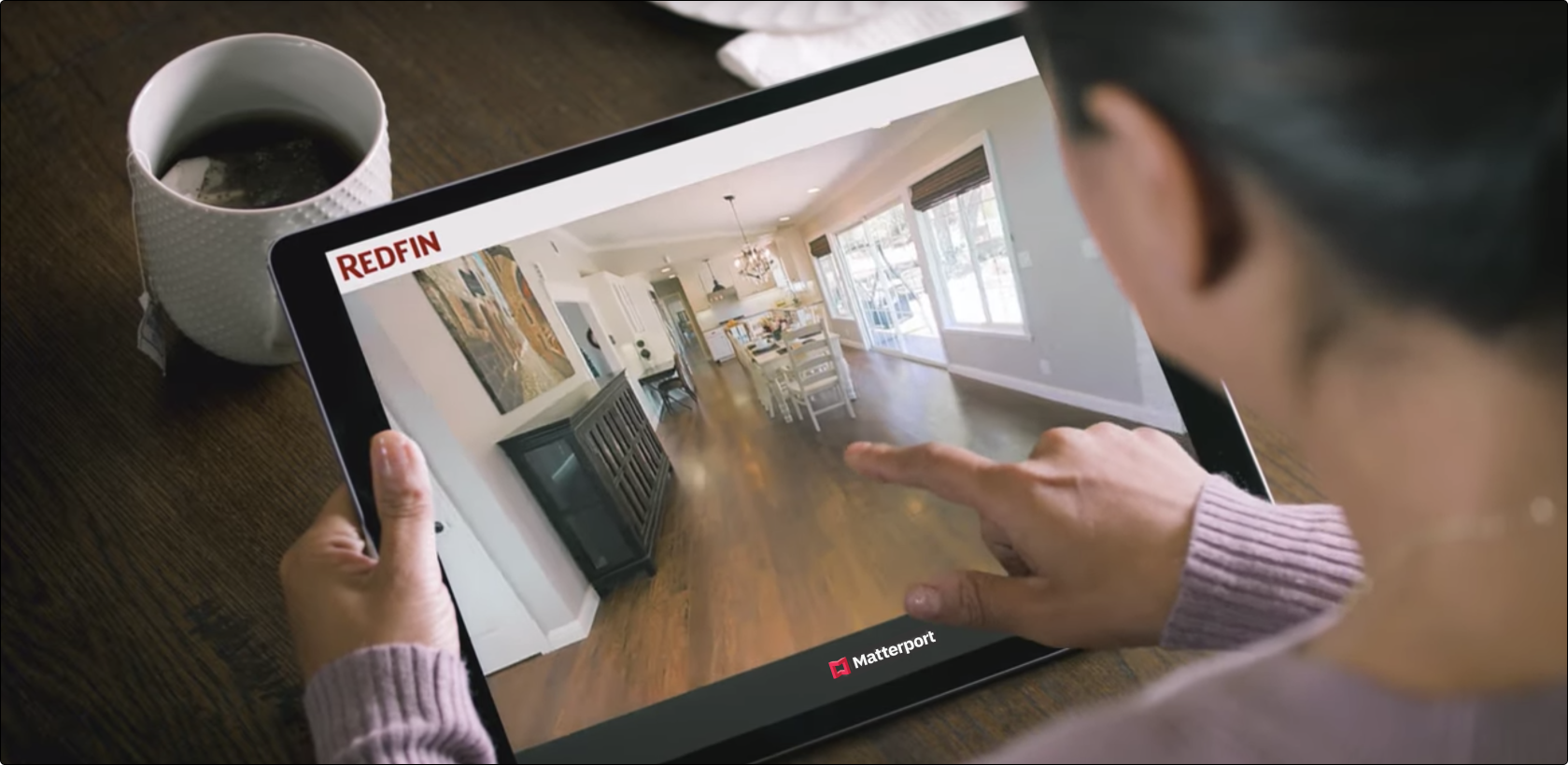 A Matterport real estate tour shown on Redfin