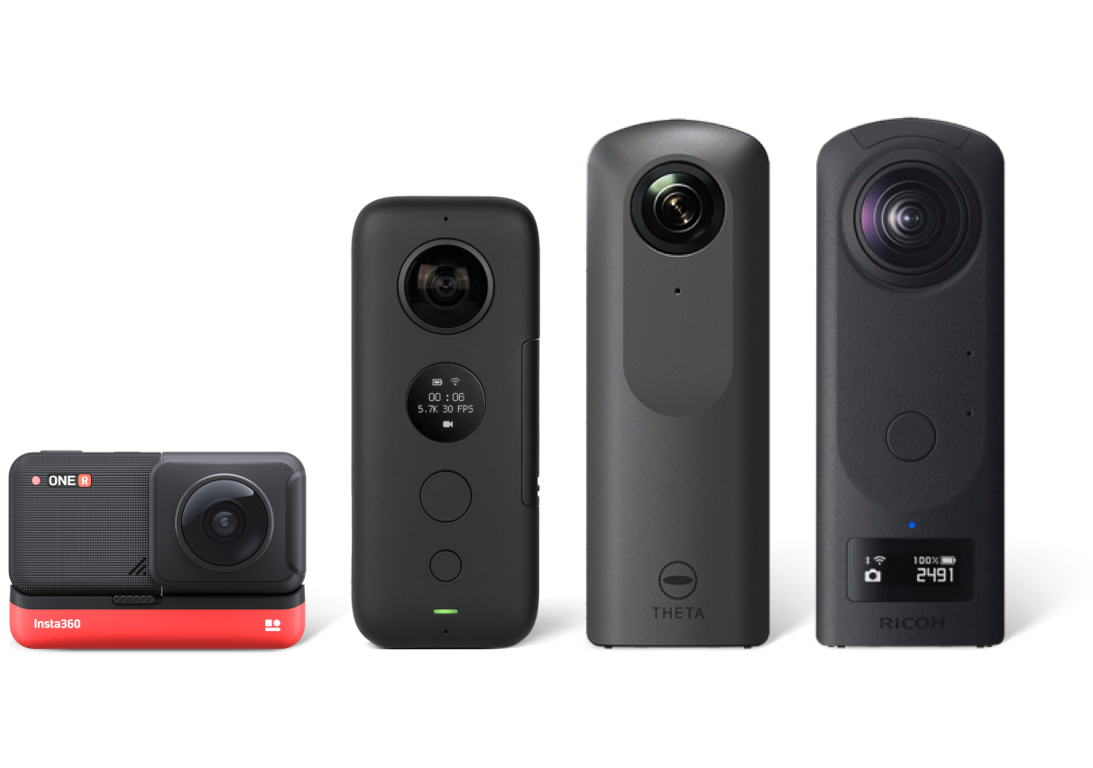360 camera family for Capture Overview page