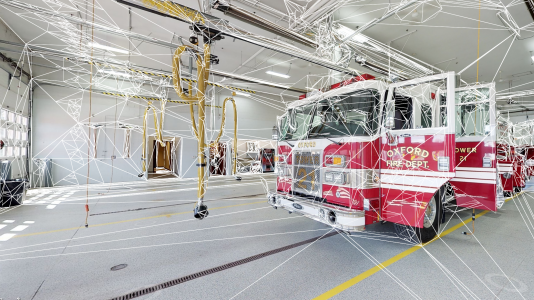 Inside look at a fire station facility digital twin