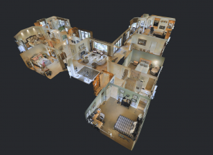 Digital twin real estate dollhouse view
