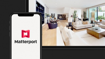 Matterport digital twin versatility displayed on devices